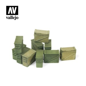 VALLEJO SC221 Large Ammo Boxes 12,7 mm.