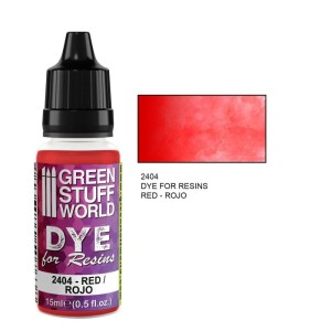 GSW 2404 DYE FOR RESINS - RED (barwnik do żywicy) 17ml
