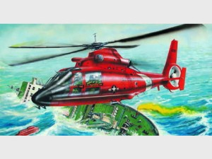 TRUMPETER 02801 1:48 Eurocopter HH-65A Dolphin (US Coast Guard)