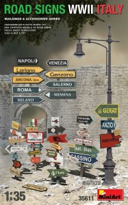 MINIART 35611 1:35 Road Signs WWII Italy