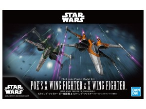 BANDAI 59231 1:144 POE`S X-WING FIGHTER  & X-WING FIGHTER