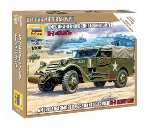 ZVEZDA 6245 1:100 M-3 Scout Car (American Armored Personnel Carrier)