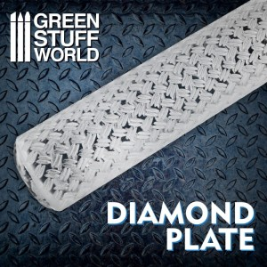 GSW 2509 ROLLING PIN DIAMOND PLATE