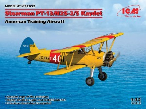 ICM 32052 1:32 Stearman PT-13/N2S-2/5 Kaydet (American Training Aircraft)