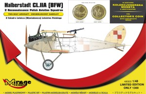 MIRAGE 480003 1:48 Halberstadt CL.IIA (BFW) 2 Reconnaissance Polish Aviation Squadron   [Set with the Collector's Coin]