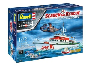 "REVELL 05683 1:72 SAR DGzRS Arkona and Westand Seaking Mk.41 ""Search and Rescue"" [MODEL SET]"