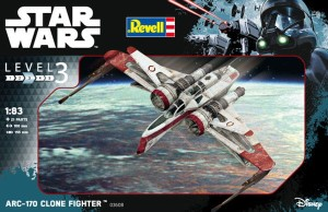 REVELL 03608 1:83 STAR WARS ARC-170 CLONE FIGHTER