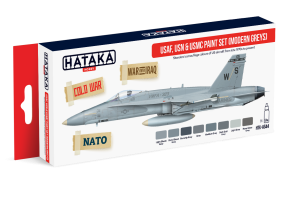HATAKA AS44 USAF, USN & USMC (modern greys) [PAINT SET]