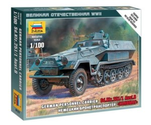 ZVEZDA 6127 1:100 German Personnel Carrier SD.KFZ.25I/I AUSF.B