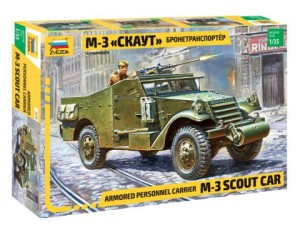 "ZVEZDA 3519 1:35 Armored personnel carrier M-3 ""Scout Car"""