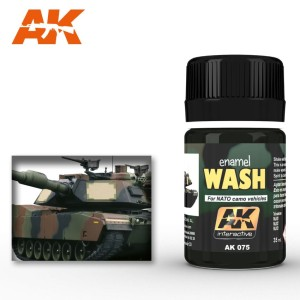 AK 075 ENAMEL WASH - WASH FOR NATO TANKS 35ml