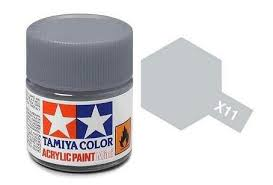 Tamiya 81011 X-11 Chrome Silver 23ml