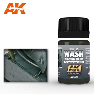 AK 070 ENAMEL WASH - WASH FOR PANZER GREY 35ml
