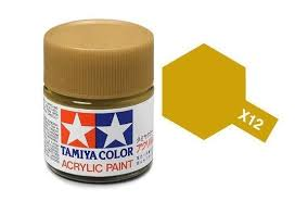 Tamiya 81012 X-12 Gold Leaf 23ml