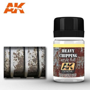 AK 089 HEAVY CHIPPING ACRYLIC FLUID (efekt zadrapań) 35ml