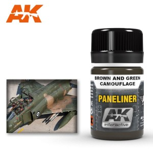 AK 2071 PANELINER FOR BROWN AND GREEN CAMOUFLAGE 35ml