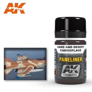 AK 2073 PANELINER FOR SAND AND DESERT CAMOUFLAGE 35ml
