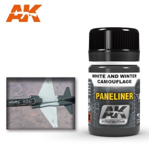 AK 2074 PANELINER FOR WHITE AND WINTER CAMOUFLAGE 35ml