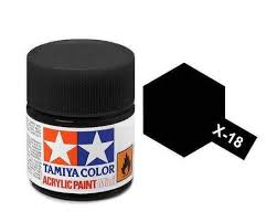 Tamiya 81018 X-18 Semi Gloss BlacK 23ml