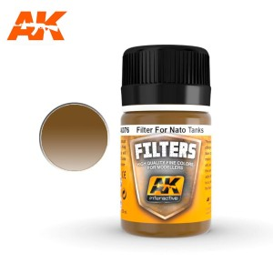 AK 076 FILTER - DARK BROWN FOR NATO TANKS 35ml