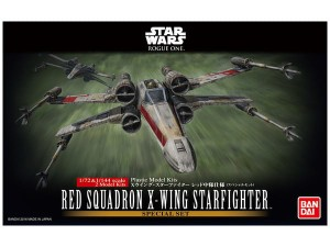 BANDAI 10522 1:72 + 1:144 2 RED SQUADRON X-WING STARFIGHTER