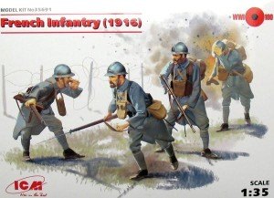 ICM 35691 1:35  French Infantry (1916) 4 figures