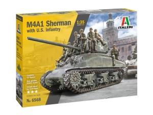 ITALERI 6568 1:35 M4A1 SHERMAN with U.S. infantry