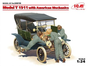 ICM 24010 1:24 Model T 1911 TORUING WITH AMERICAN MECHANICS