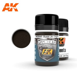 AK 2041 PIGMENT - BURNT JET ENGINE 35ml