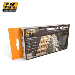 AK 557 TRACKS AND WHEELS COLORS [PAINT SET]