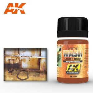 AK 046 ENAMEL WASH - LIGHT RUST WASH 35ml
