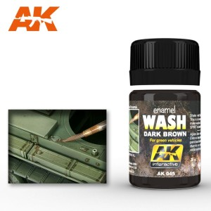 AK 045 ENAMEL WASH - DARK BROWN FOR GREEN VEH. 35ml