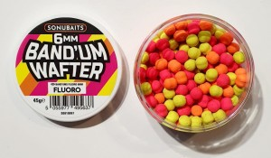 DUMBELLS SONUBAITS Band'Um Wafters 6mm - FLUORO [S0810097]