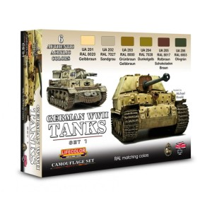 LIFECOLOR CS01 German WWII Tanks Set1 (This set contains 6 acrylic colors)