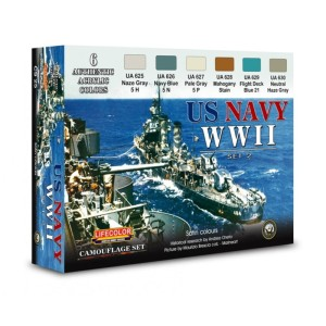 LIFECOLOR CS25 U.S. Navy WWII Set 2 [PAINT SET]