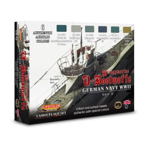 LIFECOLOR CS12 German WWII Kriegsmarine U-Boat Set 2 [PAINT SET]