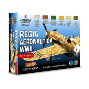 LIFECOLOR CS19 WWII Italian Air Force Set 1 (This set contains 6 acrylic colors)
