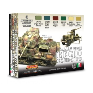 LIFECOLOR CS08 Italian WWII Regio Esercito (This set contains 6 acrylic colors)