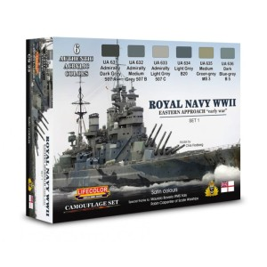 LIFECOLOR CS33 Royal Navy WWII Eastern Approach - Early War [PAINT SET]