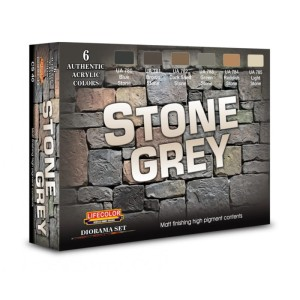 LIFECOLOR CS40 Stone Grey [PAINT SET]