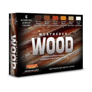 LIFECOLOR CS20 Weathered Wood (This set contains 6 acrylic colors)