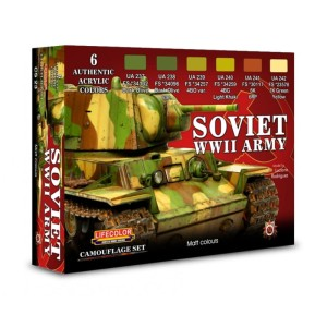 LIFECOLOR CS23 Soviet WWII Army Set [PAINT SET]