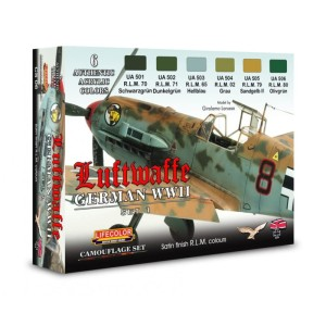 LIFECOLOR CS06 German WWII Luftwaffe Set 1 [PAINT SET]