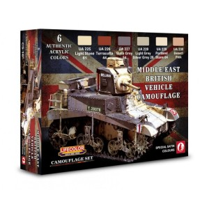 LIFECOLOR CS16 British Vehicle (This set contains 6 acrylic colors)