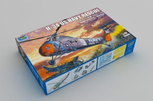 TRUMPETER 02882 1:48 American H-34 Helicopter – Navy Rescue