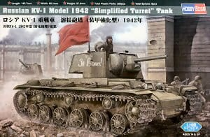 "HOBBY BOSS 84812 1:48 RUSSIAN KV--1 Model 1942 ""Simplified Turret"" Tank"