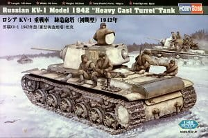 HOBBY BOSS 84813 1:48 Russian KV-1 Model 1942 Heavy Cast Turret Tank