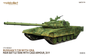 MODELCOLLECT UA72174 T-72B with ERA Main Battle Tank with cage armour