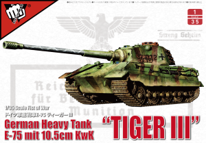 "MODELCOLLECT UA35013 1:35 German WWII E75 Heavy Tank ""King Tiger III"""