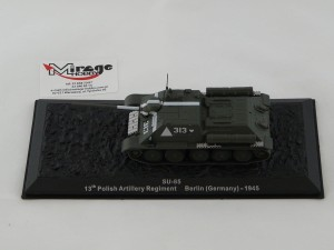 DIE-CAST #44 1:72 SU-85  13TH POLISH ARTILLERY REGIMENT BERLIN (GERMANY) - 1945